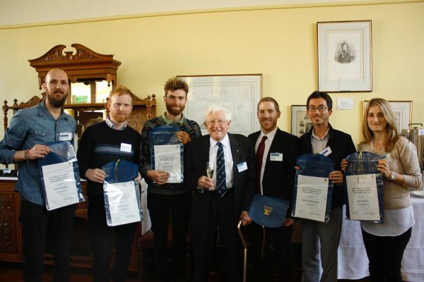 Recipients of the 2016 John Lovering Graduate Environment Scholarship and the Lester Award