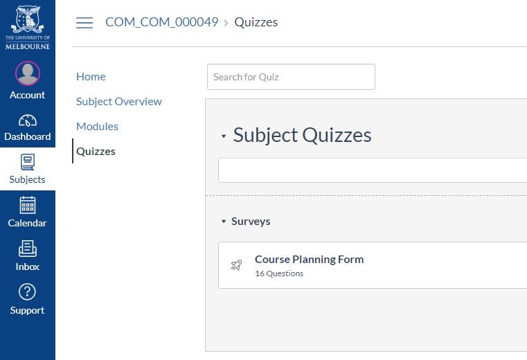 Canvas LMS Quizzes